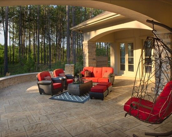 covered and uncovered | Deck Porch | Concrete patio ... on Uncovered Patio Ideas id=60022