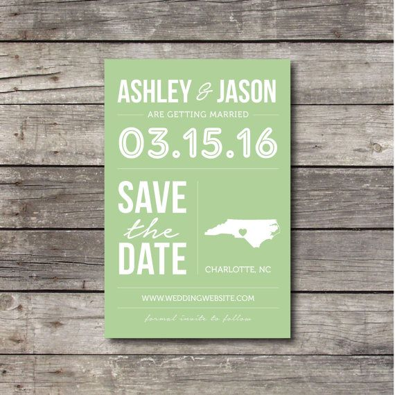 love the look of this save the date except boone nc hoping we can