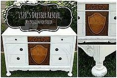 1920 s dresser rescue, chalk paint, painted furniture, rustic furniture