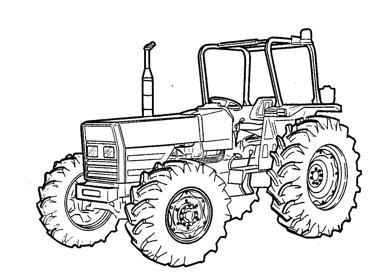 Coloring To Print Vehicles Tractor Number 68525 Trattori