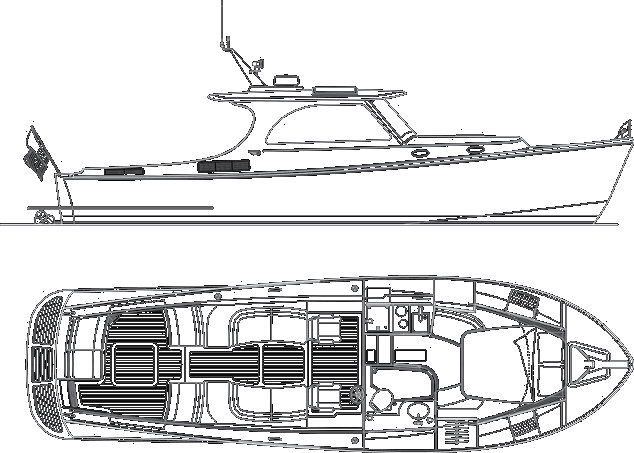 T37 pinic boat layout barcos pinterest boating for Picnic boat plans