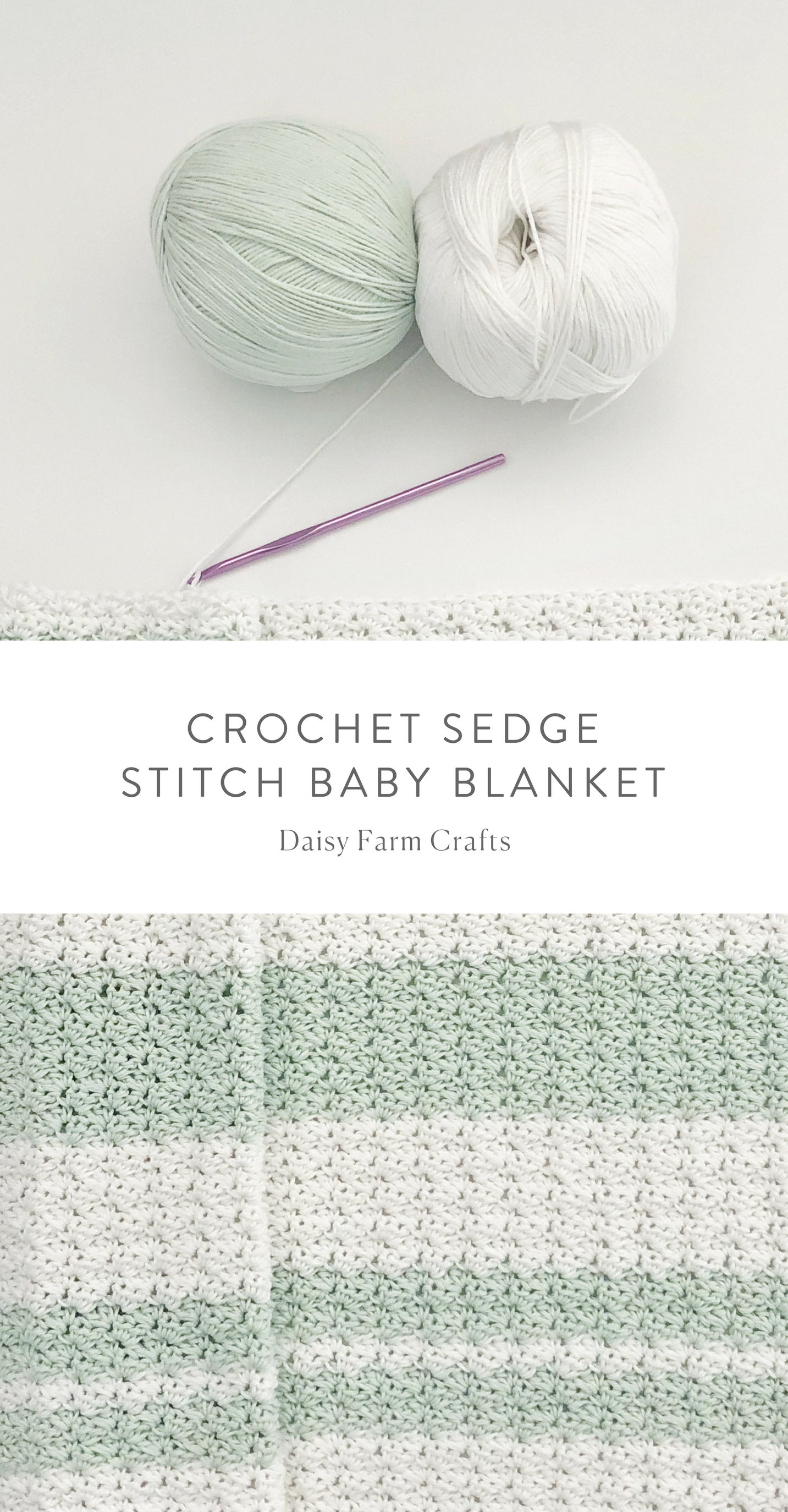 Free Pattern - Crochet Sedge Stitch Baby Blanket #crochet | knit2 ...