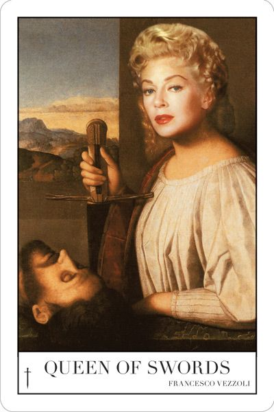Francesco Vezzoli, Queen of Swords (Study for a Portrait of Lana Turner as Judith, queen of spades (After Vincenzo Catena)), 2010