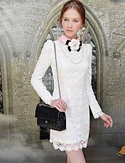 Feminino Contraste Cor Collar Lace Crochet em... – BRL R$ 270,84