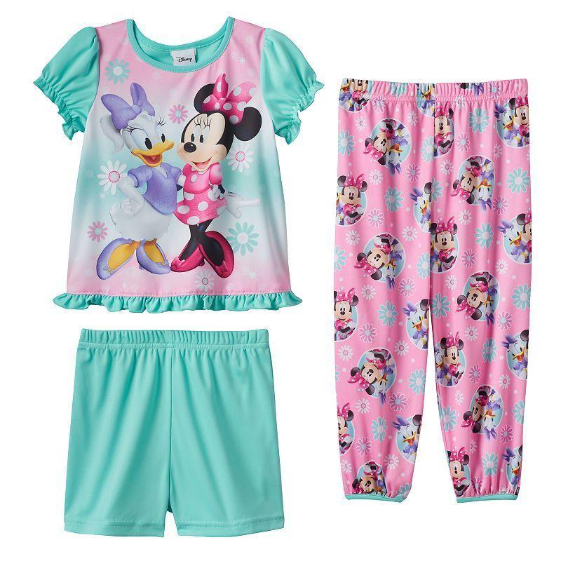 54ffe3160d81 Disney s Minnie Mouse   Daisy Duck Toddler Girl 3-pc. Pajama Set ...