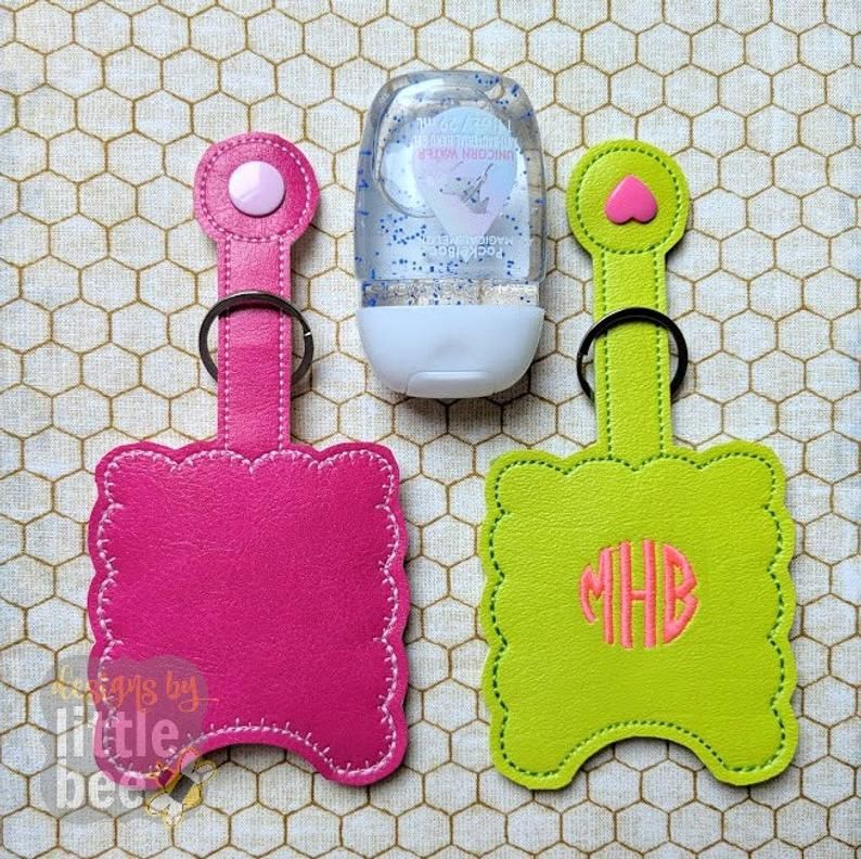 Scalloped Hand Sanitizer Case Ith In The Hoop Embroidery Design