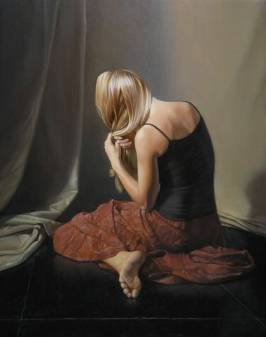 David Gray Realism Contemporary Classical Figure Painting Oil
