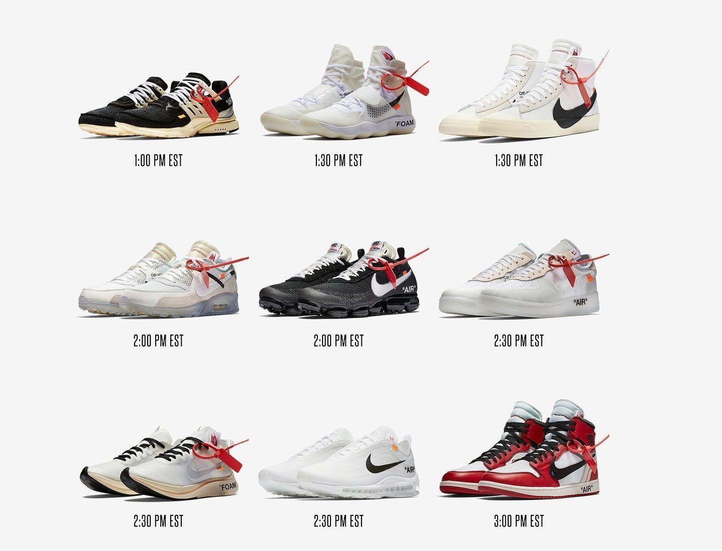 "the best attitude d2d03 f2122 Virgil Abloh x Nike ""The Ten"" Sneakers Drops Today!"