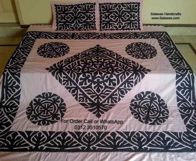 Explore Pakistani Bed Sheet Design With Hand Work Embroidery Best