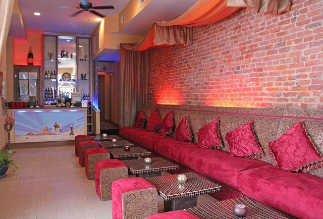Hookah lounge design ideas  nice with the velvet seats and   Club Images  Hookah lounge