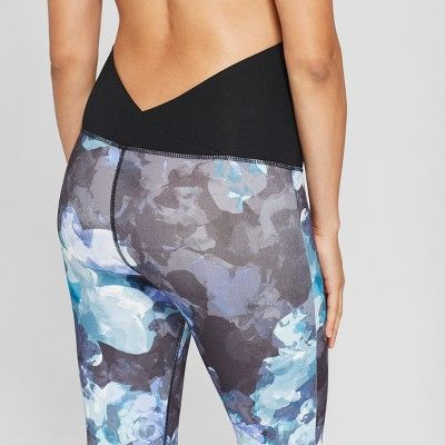ee518138bf Maternity Floral Print Active Leggings with Crossover Panel - Isabel  Maternity by Ingrid   Isabel Lilac (Purple) XS