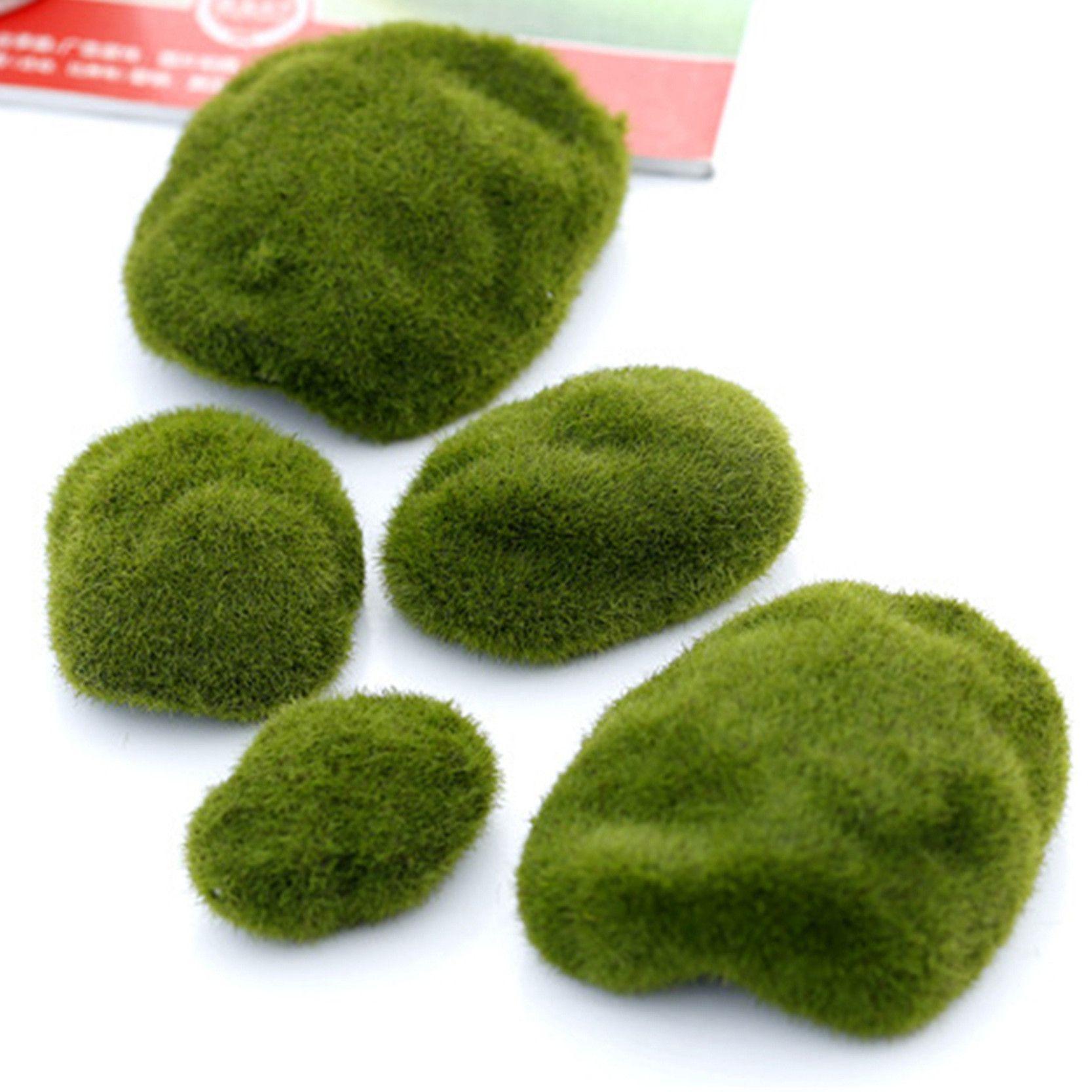 3 pcs Natural Green Artificial Moss Decorative Crafts Micro ...