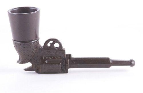 VINTAGE BAKELITE COLT 45 PISTOL GUN TOBACCO PIPE