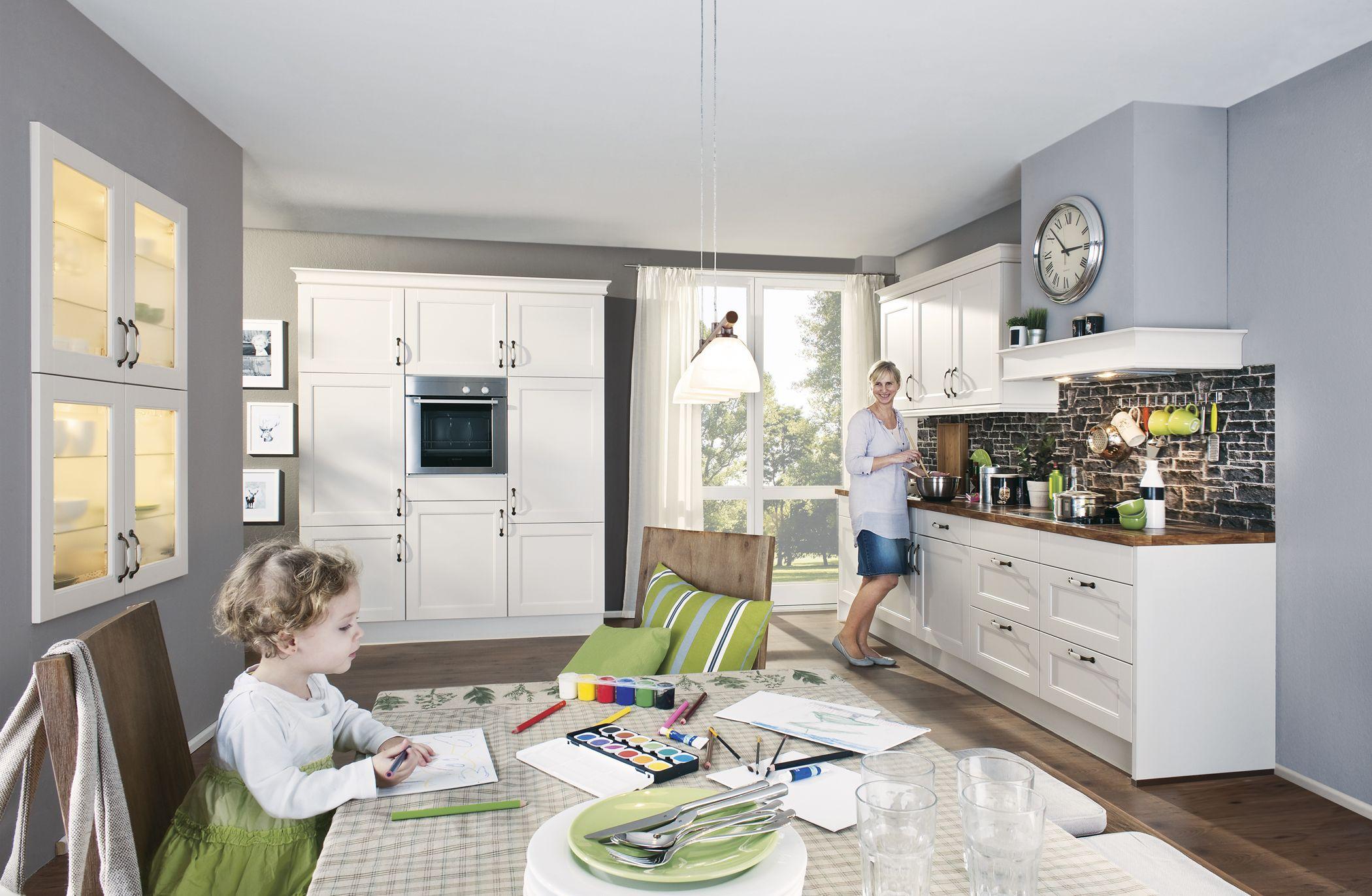 moderne landhausk che in hellen farben von nobilia erh ltlich bei h ffner k chen pinterest. Black Bedroom Furniture Sets. Home Design Ideas