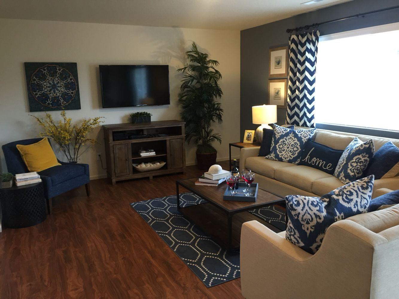 Best Family Living Room Ideas Modern Blue Theme 400 x 300
