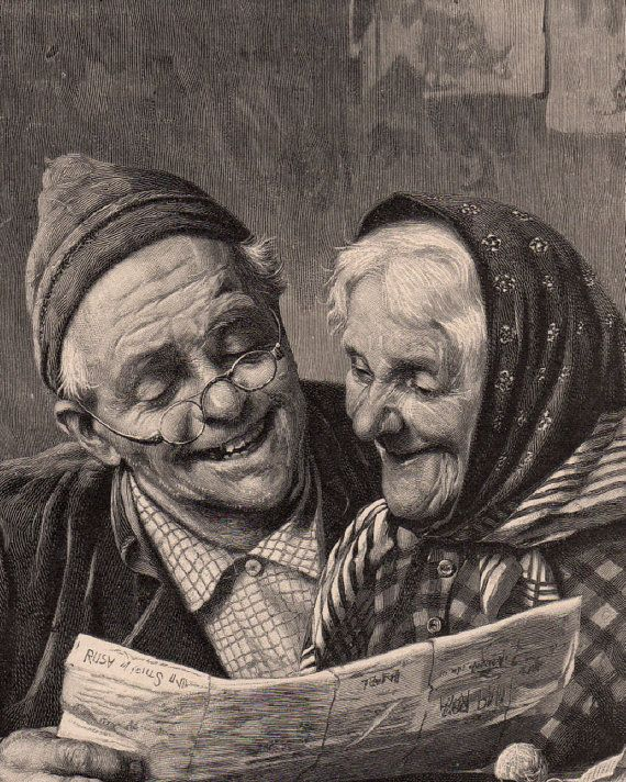 Image result for wise old couple sepia