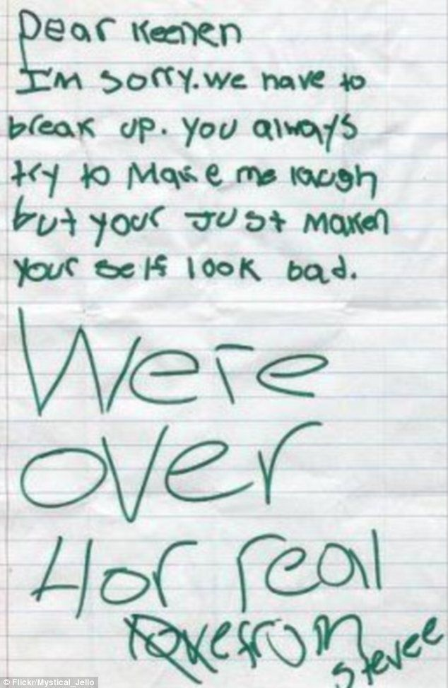 How many adult women have broken up with someone for this exact - apology letter to family