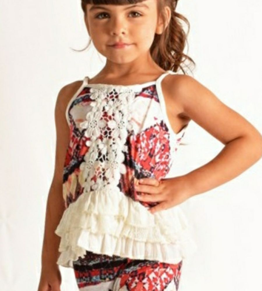 Details about cowgirl gypsy southwest aztec crocheted top tank