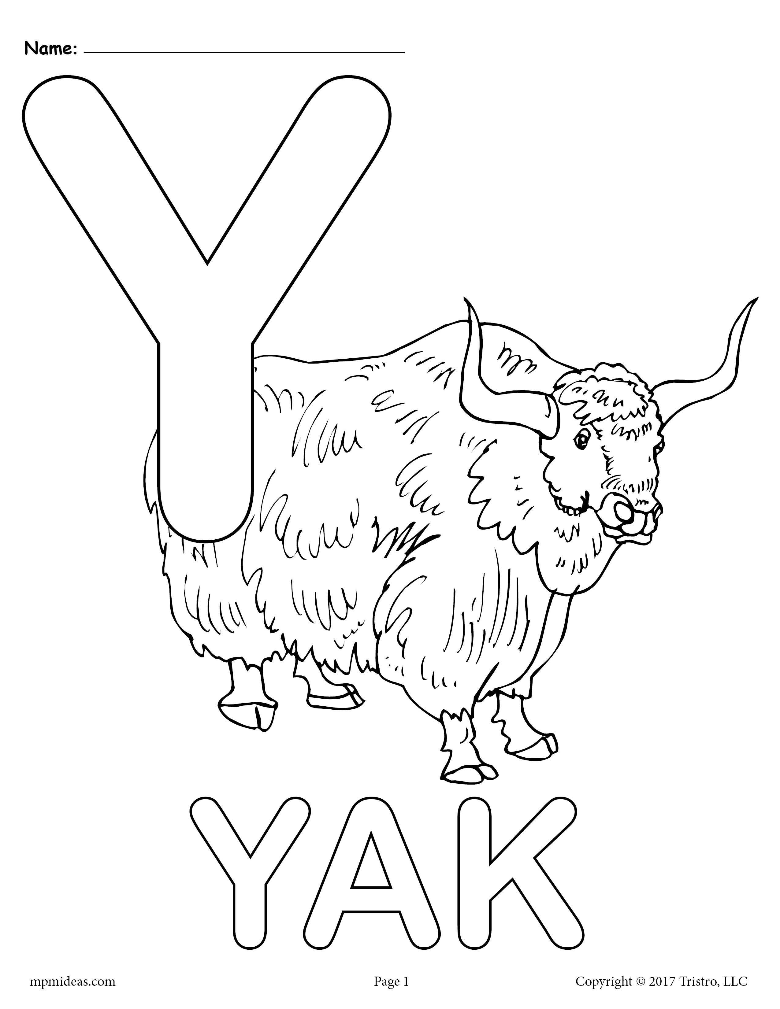 Letter Y Alphabet Coloring Pages 3 Printable Versions Supplyme Alphabet Coloring Pages Y Coloring Pages Alphabet Coloring