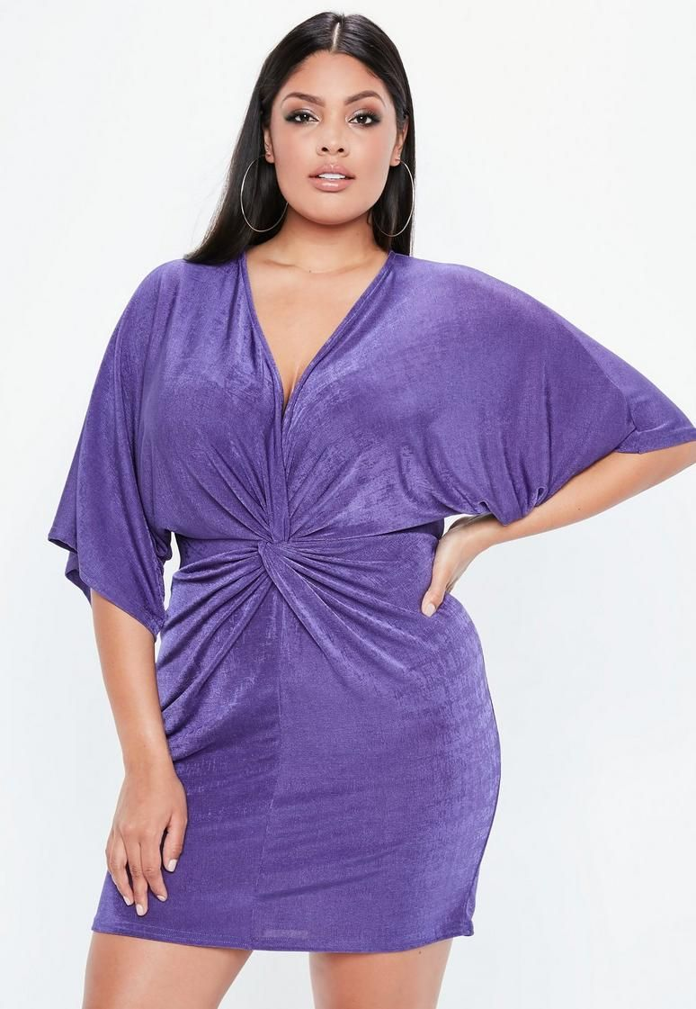 437094f3c Curve Purple Slinky Kimono Dress. Curve Purple Slinky Kimono Dress Cheap  Plus Size ...