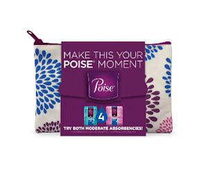 This is still available in case you missed out previously. Poise has new Free sample kits available with a cute zippered bag! Get your choice of free Poise Starter Sample Packs for Light Leaks or Moderate Leaks!  Cool! http://ifreesamples.com/free-poise-starter-sample-pack-zipper-bag/