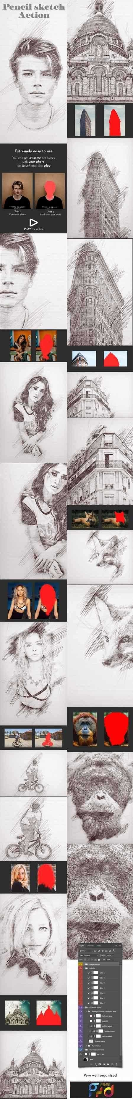 1808081 pencil sketch photoshop action 22055959 free psd download free photoshop action lightroom preset plugin vector stock font with google