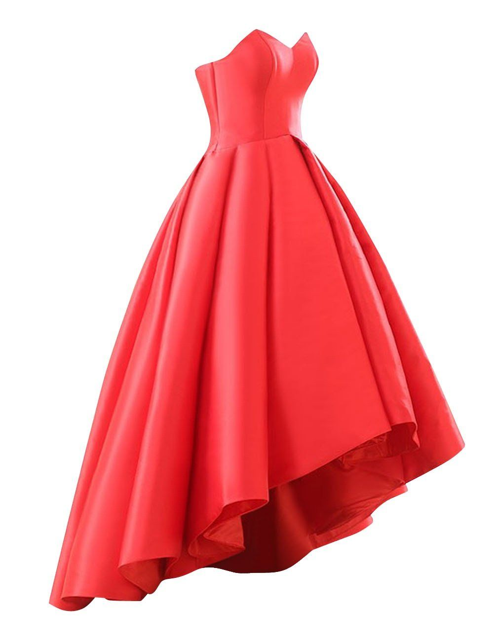 Wehops womens sweetheart short front long back a line high low prom