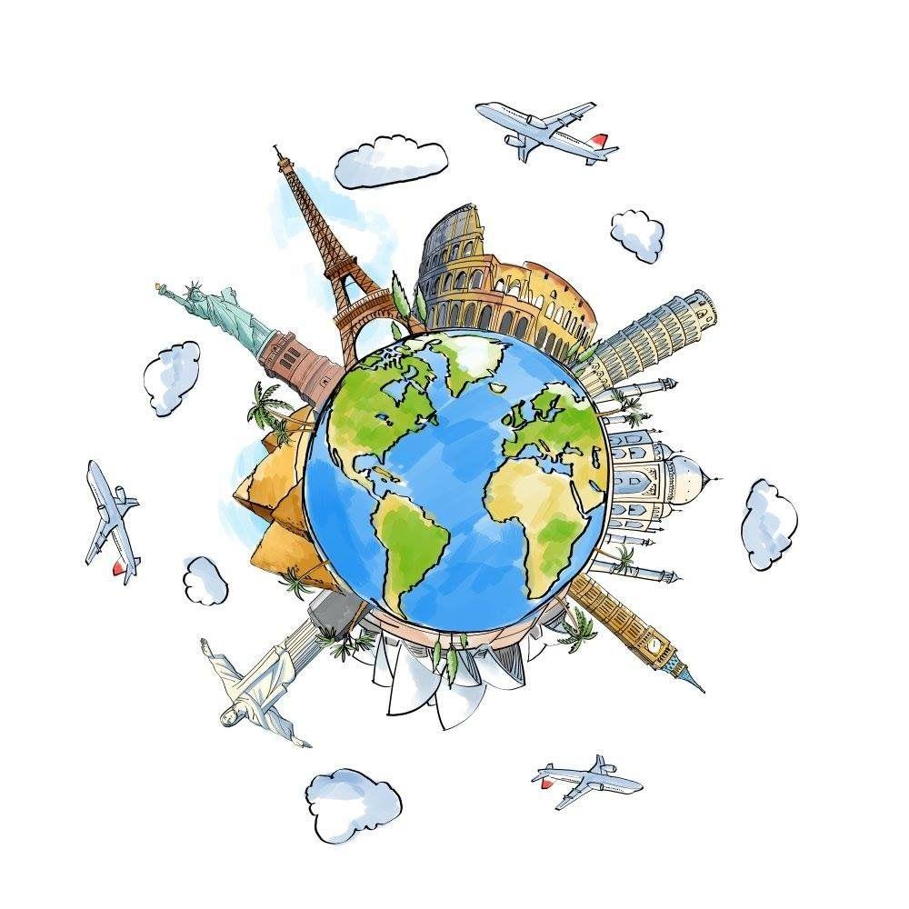 Dibujos The Globe In 2019 Viajar Dibujos Mapas De Viaje Mapa