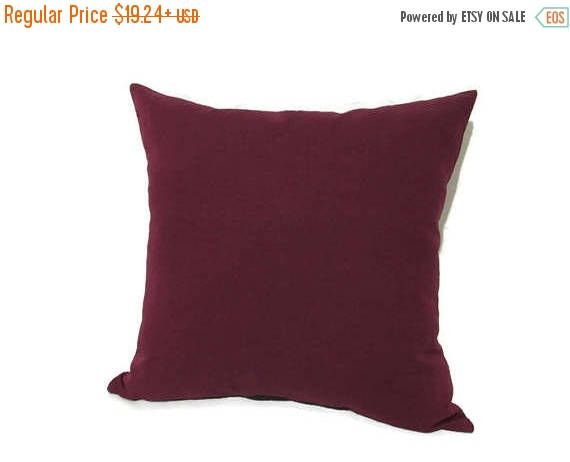 Red linen pillow covers in custom