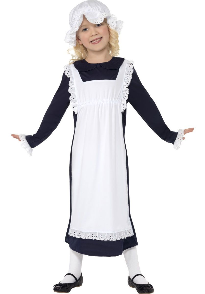 Poor Victorian Girl Fancy Dress Childrens Girls Costume Childs Outfit