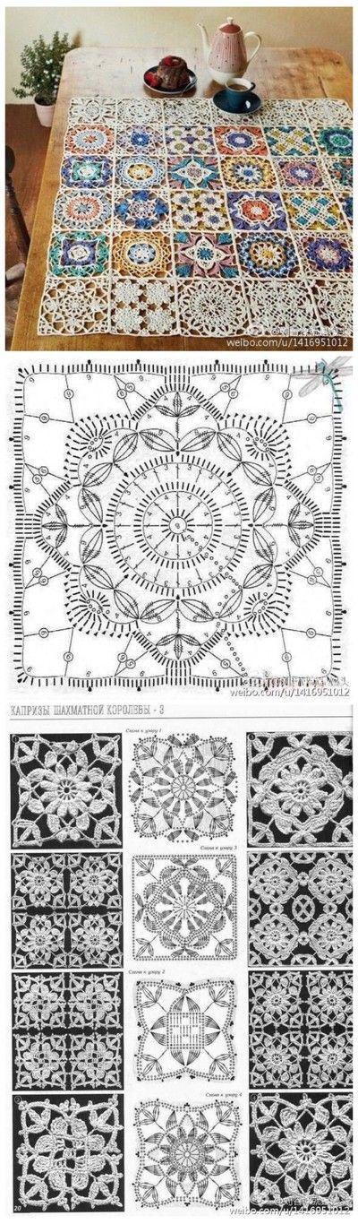 Mándala | crochet | Pinterest | Ganchillo, Tejido y Cuadrados
