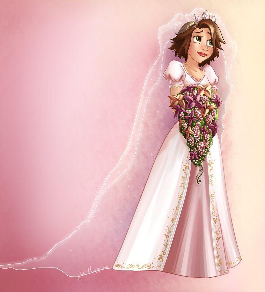 Hermosa Vestido De Novia Jazmín Princesa De Disney Motivo ...
