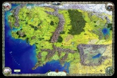 middle earth map puzzle fun size desktop puzzle 120 pieces measures 775