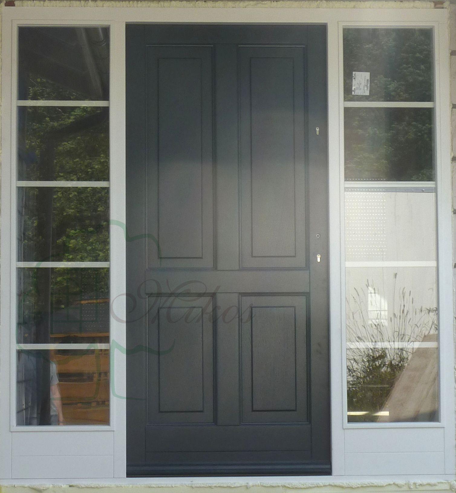 Drzwi Wejsciowe Dwukolor Skrzydlo Antracyt Drzwi Drewniane