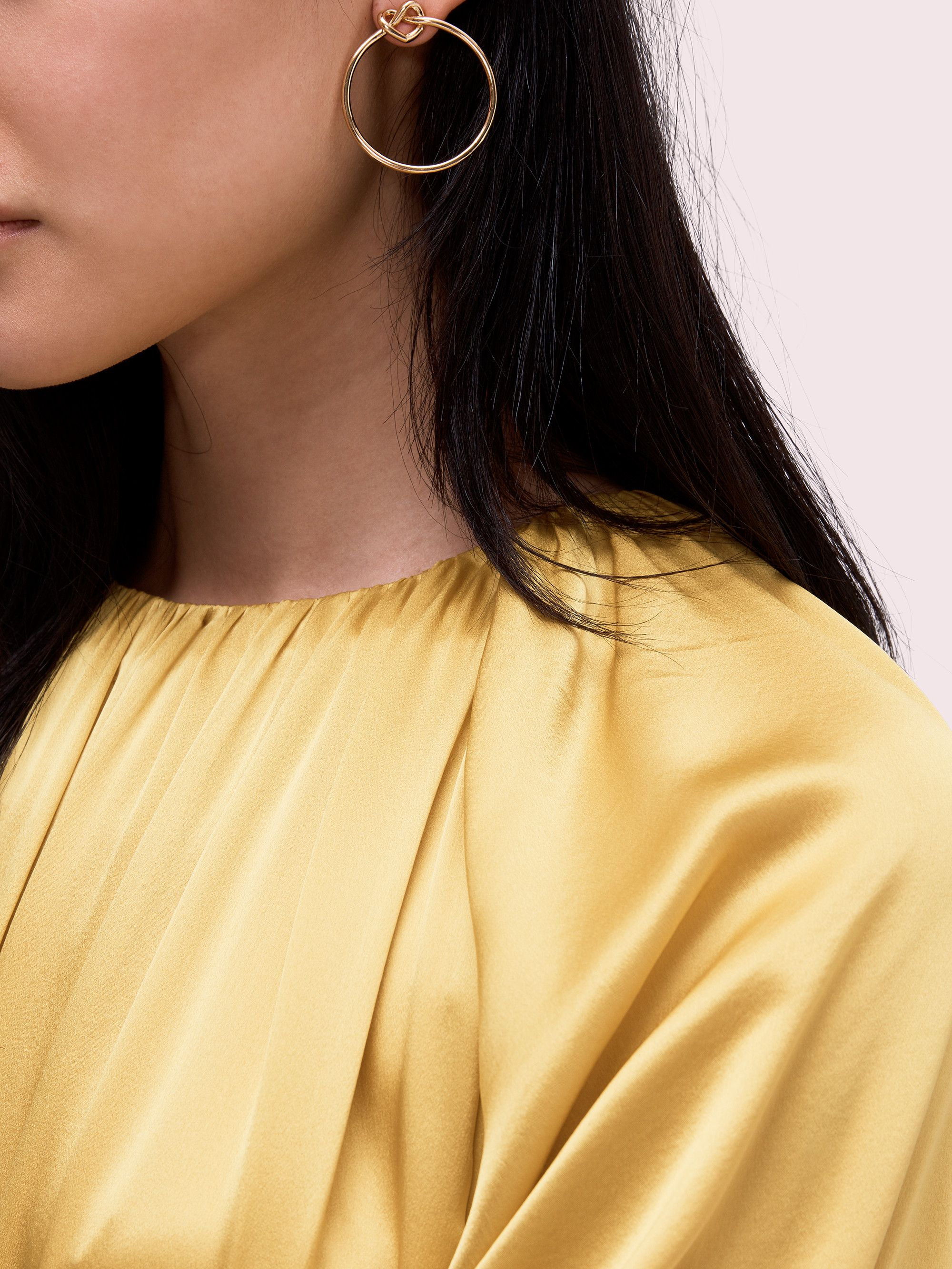 280a1631b Kate Spade loves me knot hoops in 2019 | Stuff I would like | Knots ...