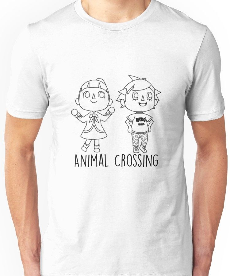 Animal Crossing Villagers Outline Slim Fit T Shirt Products