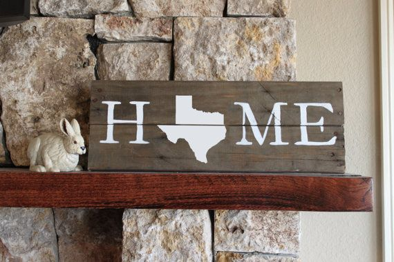Texas HOME Sign Reclaimed Wood Sign TX Sign Texas by elhdesign77 - Texas HOME Sign, Reclaimed Wood Sign, TX Sign, Texas Artwork