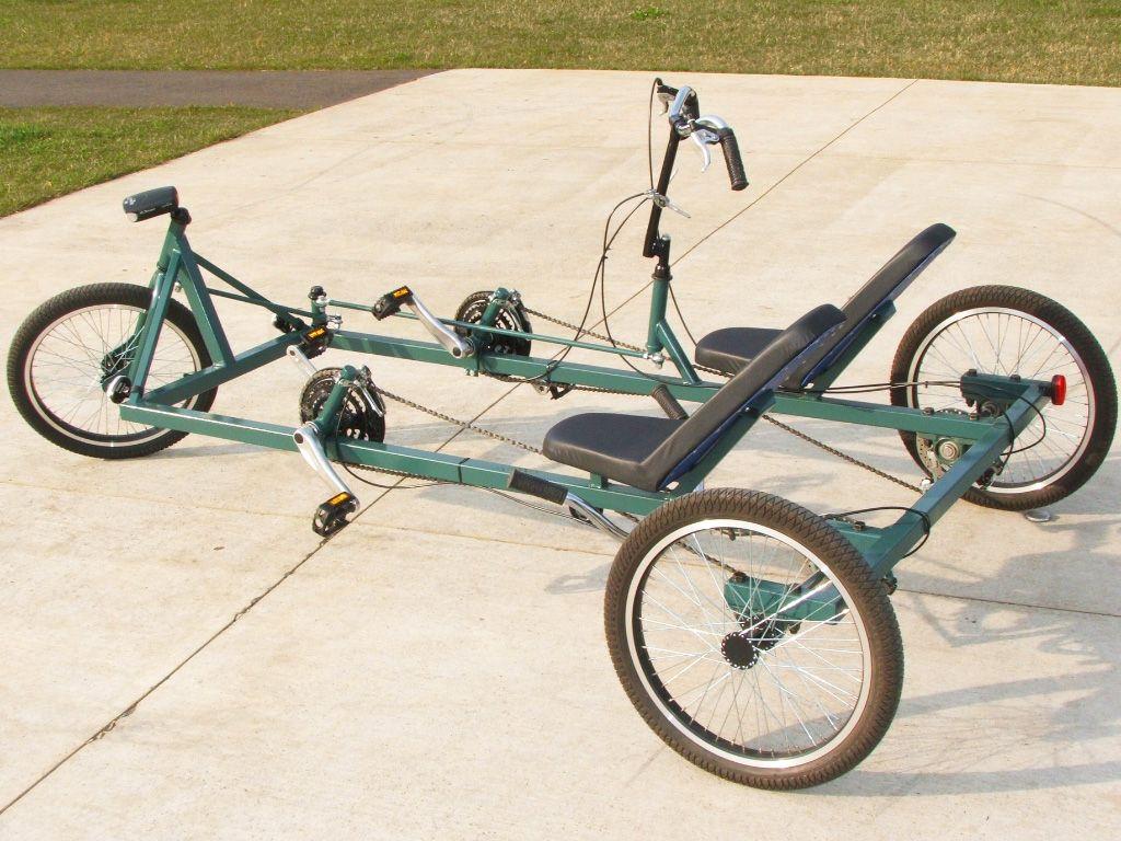 Kyotocruiser Tandem Trike Diy Plan Atomiczombie Diy Plans Trike Electric Bike Diy Electric Go Kart