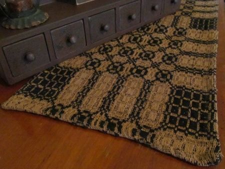 Black U0026 Dark Tan Woven Table Runner