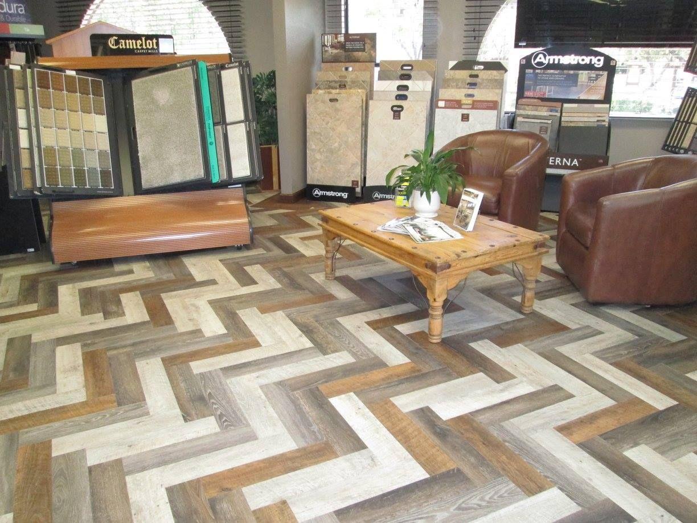 13 Several Styles Of Vinyl Planks In A Herringbone Pattern A