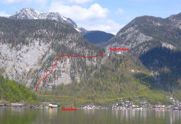 Klettersteig Hallstatt : Fotogalerie tourfotos fotos zur klettersteig tour salzberg