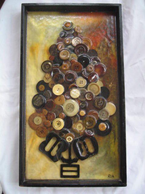 Vintage Art Picture 50s Button Buckle Collectors 3D by twysp2, $88.00