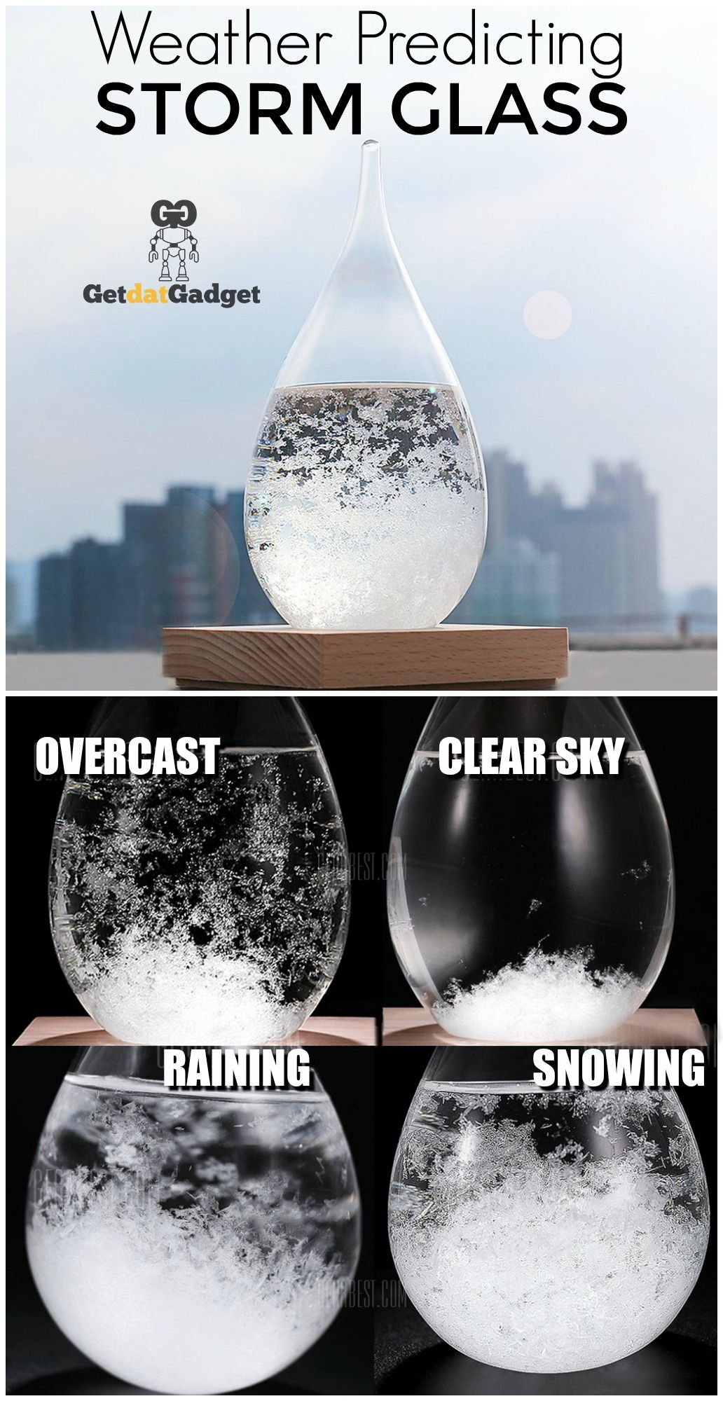 Tempo Drop Weather Forecasting Storm Glass Weather Globe