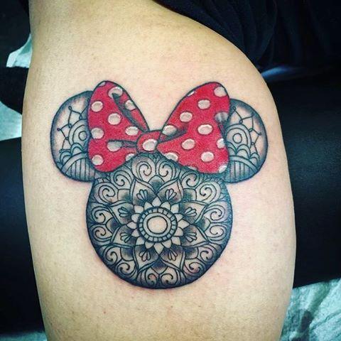 141ddc9f21d6e Mini mouse mandala tattoo by @shortbustattoo #disney #disneytattoo  #minimouse #mickeymouse #mandalatattoo #minimousetattoo #tattooart  #tattoolovers