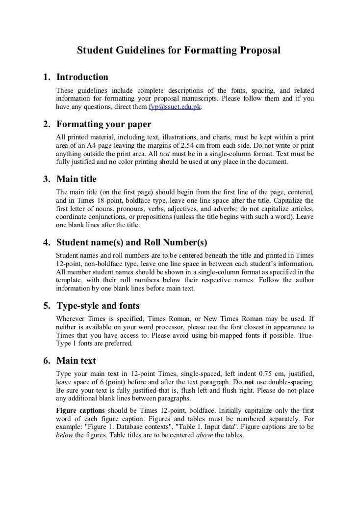 project proposal format - Bire1andwap - Sample Proposal Template For Project