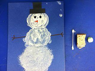 Sneeuwpop verven