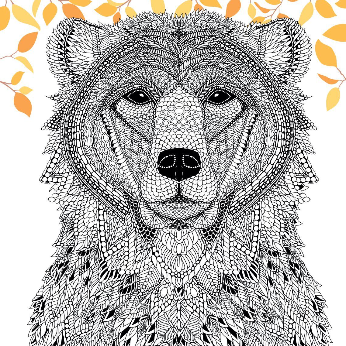 Zen colouring book animals - Each Wonderfully Detailed Piece In The Colouring Book The Menagerie Is A Work Of Art To