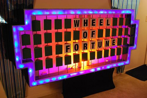 Wheel Of Fortune Puzzle Board Wheel Of Fortune Wheel Of Fortune Game Game Night Parties