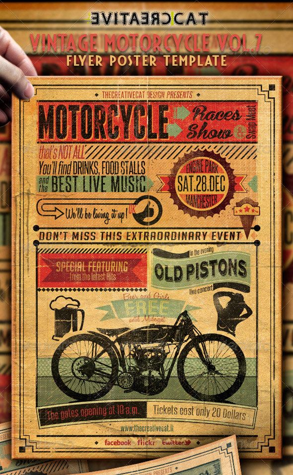 25 Really Awesome Typography Flyer PSD Templates Psd templates - retro flyer templates