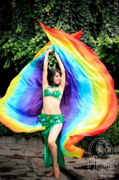rainbow fan splash photography flow arts belly dancers colour splash photo shoot dancing dressing rooms photoshoot - Dancing Pictures To Colour